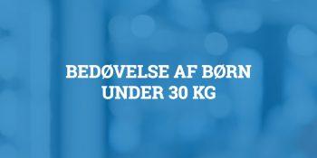 Bedøvelse af børn under 30 kg